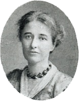 Photo captioned: Edith M. Ellis (Acting Hon. Sec. of the Friend' Service Committee)